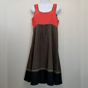 Moulinette Souers 6 Dress Coral Green Black Anthro